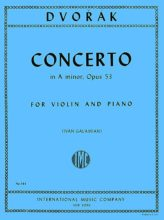 Dvorak Concerto in A for Violin, Op. 53 - International Ed.