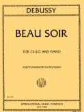 Debussy Beau Soir for Cello - International Ed.