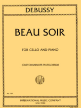Debussy Beau Soir for Cello – International Ed.