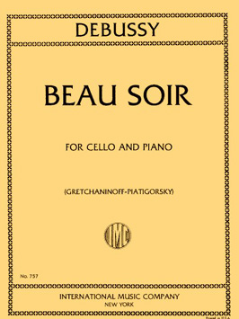 Debussy Beau Soir for Cello - International Ed.