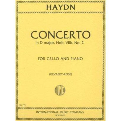 Haydn Concerto in D Major for Cello, Hob. VIIb – No. 2 – International Ed.