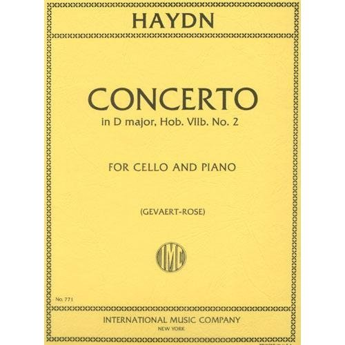 Haydn Concerto in D Major for Cello, Hob. VIIb - No. 2 - International Ed.