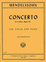 Mendelssohn Concerto for VIolin in E minor - International Ed.