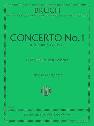 Bruch Concerto No. 1 for Violin in G Minor - International Ed.