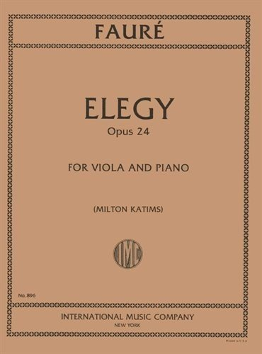 Faure Elegy for Viola, Opus 24 - International Ed.