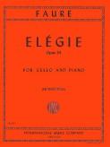 Faure Elegie for Cello, Opus 24 - International Ed.