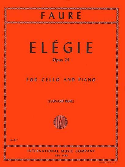 Faure Elegie for Cello, Opus 24 – International Ed.