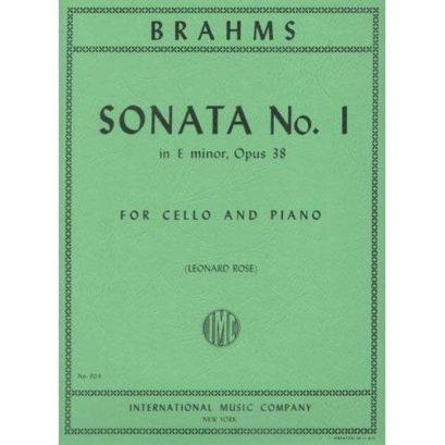 Brahms Sonata No. 1 in E minor for Cello, Op. 38 – International Ed.