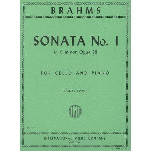 Brahms Sonata No. 1 in E minor for Cello, Op. 38 - International Ed.
