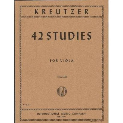 Kreutzer 42 Studies for Viola – International Ed.