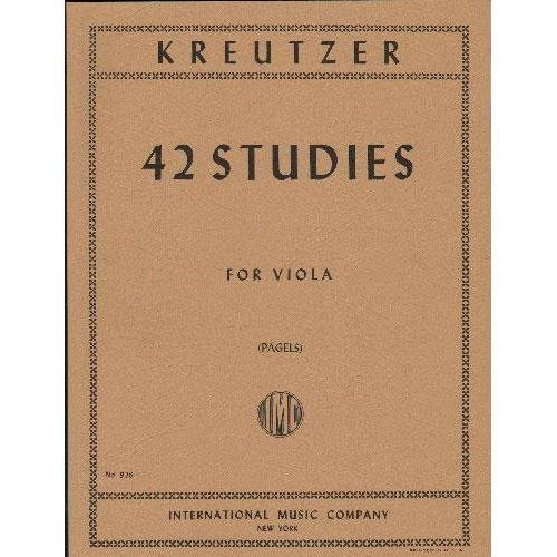 Kreutzer 42 Studies for Viola - International Ed.