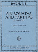 Bach Six Sonatas and Partitas for Viola - International Ed.