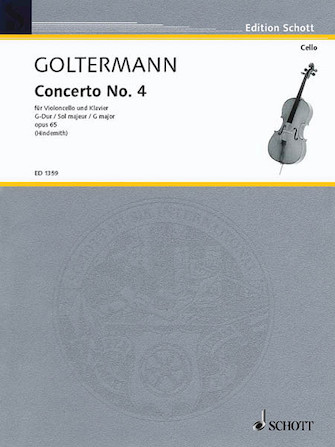 Goltermann Concerto No. 4 in G Major for Cello, Opus 65 – SchottEd.