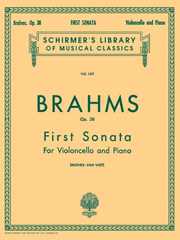 Brahms Sonata No. 1 in E minor for Cello, Op. 38 – Schirmer Ed.