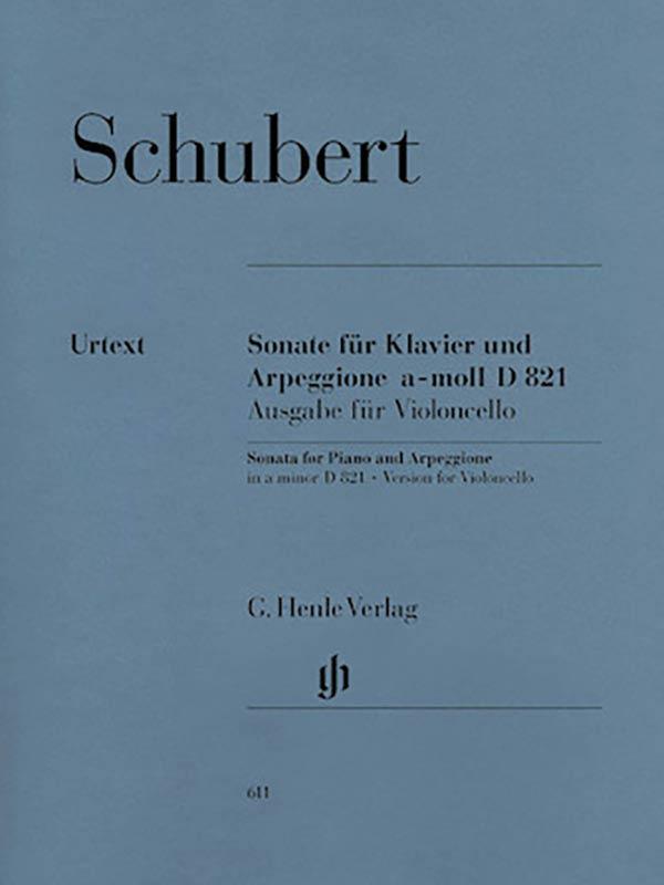 Schubert Sonata in A Minor for Cello 'Arpeggione', D. 821- Henle Ed.