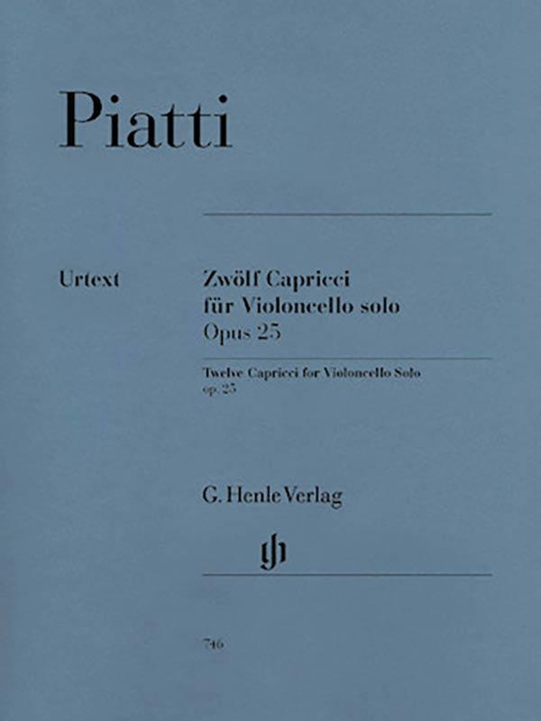 Piatti 12 Caprices for Cello, Op. 25 – Henle Ed.