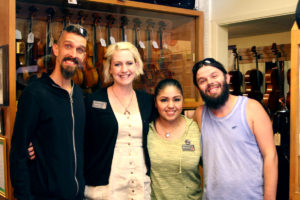 Terra Celta Visits Violin Outlet