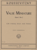 Koussevitsky Valse Miniature for Bass, Opus 1, No. 2 (solo tuning) - International Ed.
