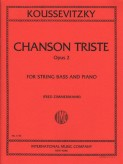 Koussevitsky Chanson Triste for Bass, Opus 2 (solo tuning) - International Ed.