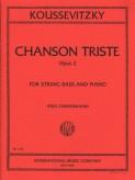 Koussevitsky Chanson Triste for Bass, Opus 2 (solo tuning) - International Ed.