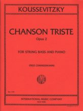Koussevitsky Chanson Triste for Bass, Opus 2 (solo tuning) – International Ed.