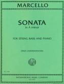 Marcello Sonata in A Minor for Bass - International Ed.