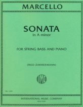 Marcello Sonata in A Minor for Bass – International Ed.