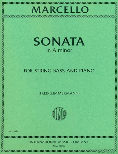 Marcello Sonata in A Minor for Bass - International Ed.