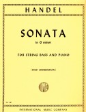Handel Sonata in G minor for String Bass - International Ed.