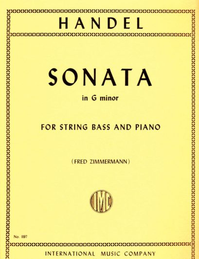 Handel Sonata in G minor for String Bass – International Ed.