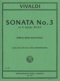 Vivaldi Sonata No. 3 for Bass in A minor, RV 43 - International Ed.