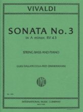 Vivaldi  Sonata No. 3 for Bass in A minor, RV 43 – International Ed.