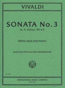 Vivaldi Sonata No. 3 for Bass in A minor, RV 43 - International Ed.