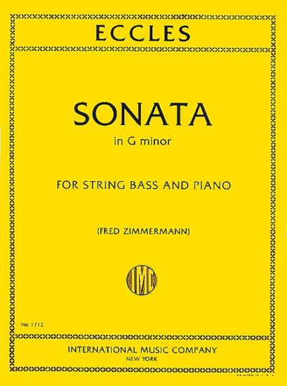 Eccles Sonata in G Minor for Bass - International Ed.