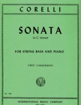 Corelli Sonata in C minor for Bass, Opus 5, No. 8 - International Ed.