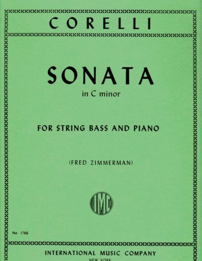Corelli  Sonata in C minor for Bass, Opus 5, No. 8 – International Ed.