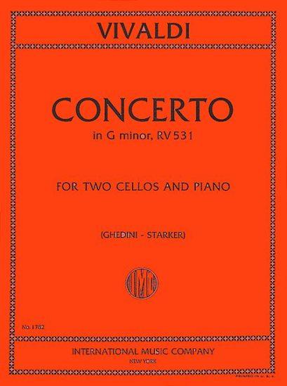 Vivaldi Concerto in G minor for Two Cellos and Piano, RV 531 – International Ed.