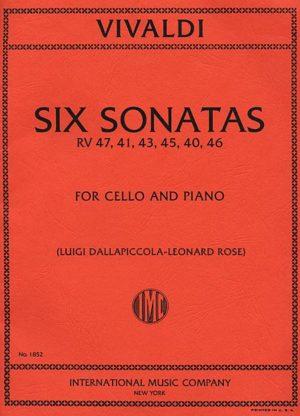Vivaldi Six Sonatas for Cello RV 47, 41, 43, 45, 40, 46 - International Ed.