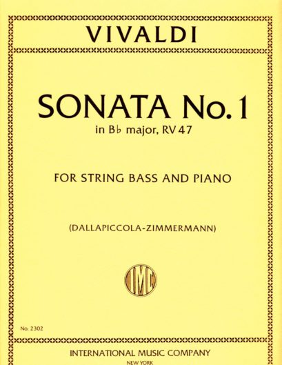 Vivaldi Sonata No. 1 for Bass in B flat Major, RV 47 – International Ed.