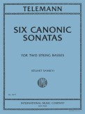 Telemann Six Canonic Sonatas for Two Basses - International Ed.