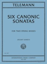 Telemann Six Canonic Sonatas for Two Basses – International Ed.