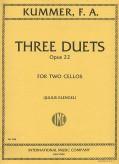 Kummer Three Duets for 2 Cellos, Op. 22 - International Ed.