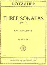 Dotzauer Three Sonatas for 2 Cellos, Op. 103 - International Ed.