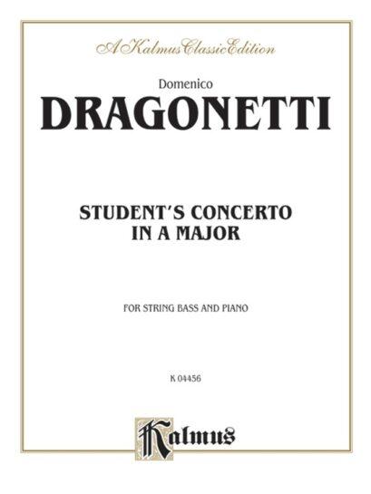 Dragonetti  Concerto in A major for Bass – Kalmus Ed.