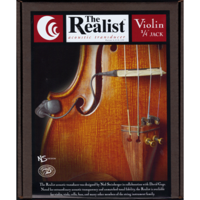 Realist Copperhead Pickup for Violin with 1/4″ Jack
