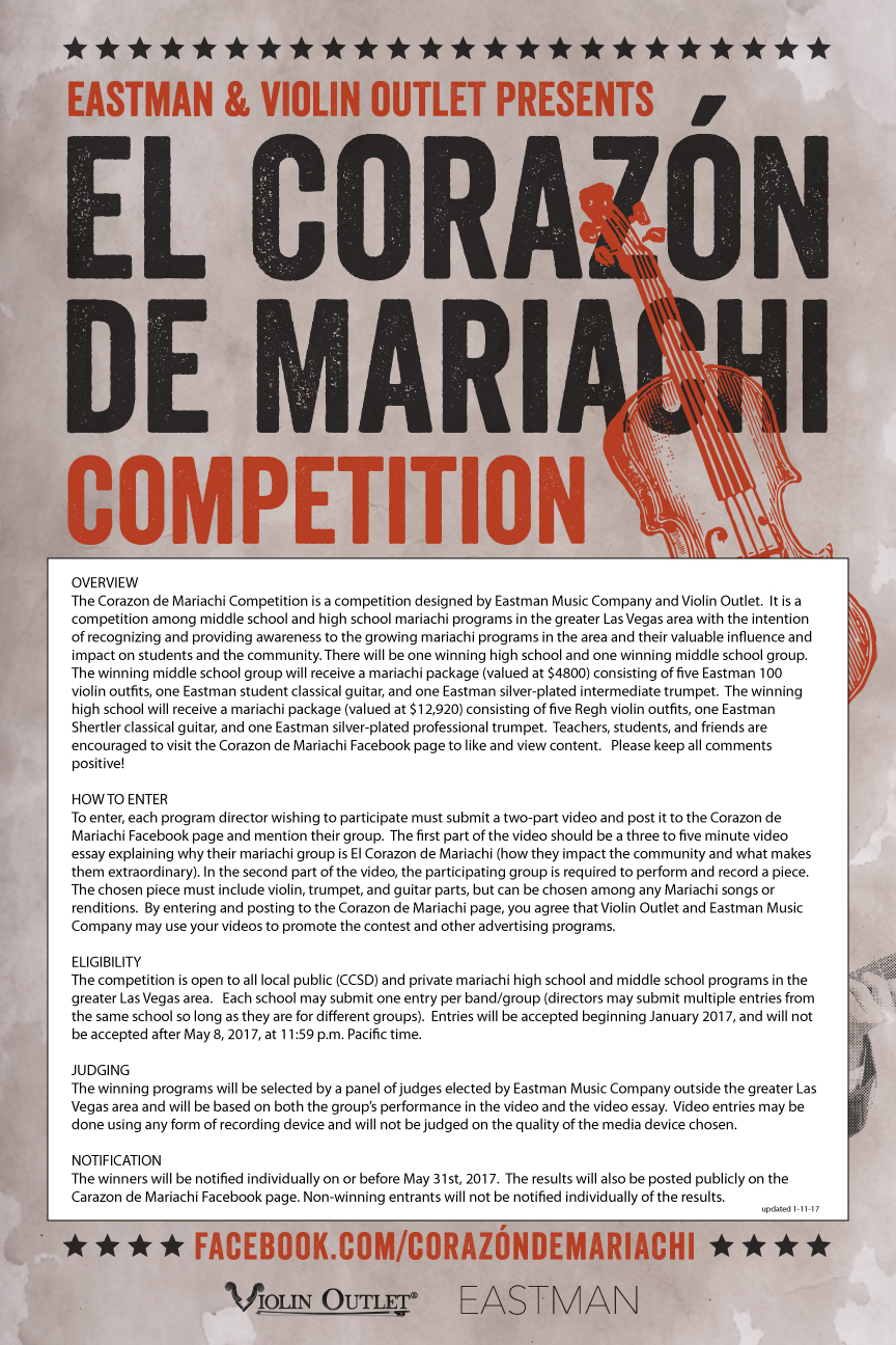 Corazon de Mariachi Competition info
