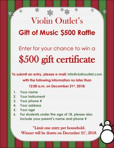 Violin Outlet $2500 Gift of Music Giveaway