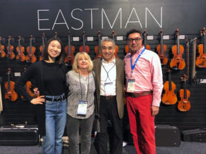 Mara with Ping, Ruben, and Chen of Eastman Strings