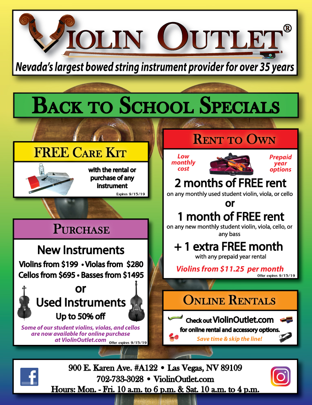 Back to School Specials flyer