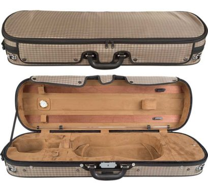 Core Brown Plaid Violin Case